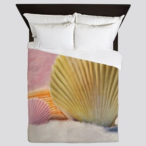 Vintage Shells Queen Duvet