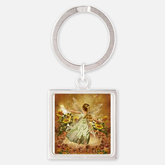 Fairy girl in fairy ring Keychains