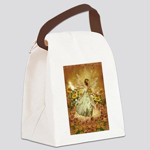 Fairy girl in fairy ring Canvas Lunch Bag
