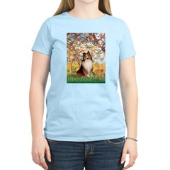Spring / Sheltie (#1) Women's Light T-Shirt