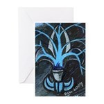 From Fleur De Lis Paintings Greeting Cards (Pk of