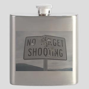 SIGN - NO TARGET SHOOTING Flask