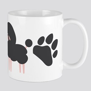 French poodle dog with paws Mugs