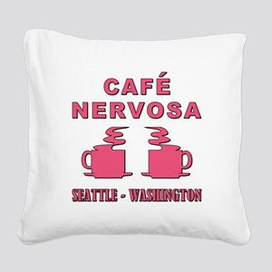 CAFE NERVOSA Square Canvas Pillow