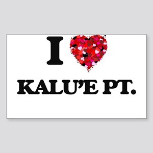 I love Kalu'E Pt. Hawaii Sticker