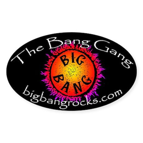 Big Bang Oval Sticker