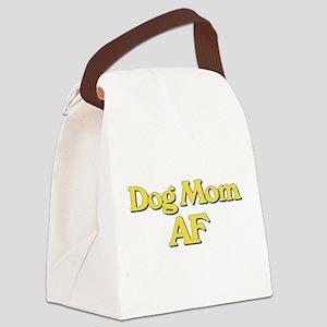 Dog Mom AF Canvas Lunch Bag