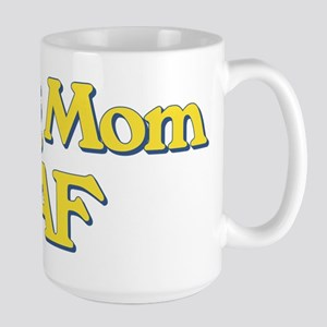 Dog Mom AF 15 oz Ceramic Large Mug