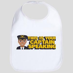 Emoji Pilot Captain Cotton Baby Bib