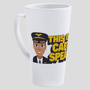 Emoji Pilot Captain 17 oz Latte Mug