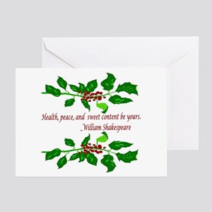 Holiday Shakespeare Quote Greeting Cards