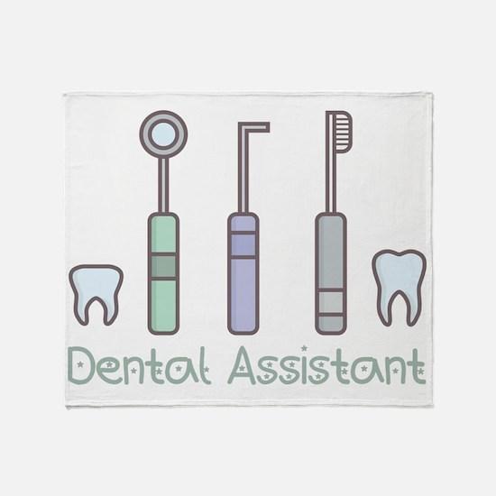 Cute Dental assistant Throw Blanket
