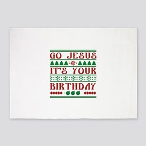 Go Jesus It's Your Birthday 5'x7'Area Rug