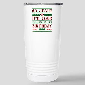 Go Jesus It's Your Birthday Ceramic Travel Mug