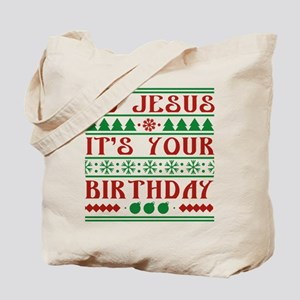 Go Jesus It's Your Birthday Tote Bag