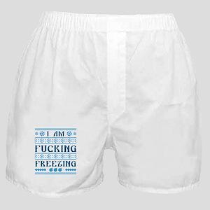 I Am Fucking Freezing Boxer Shorts