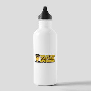 Emoji Pilot Captain Stainless Water Bottle 1.0L