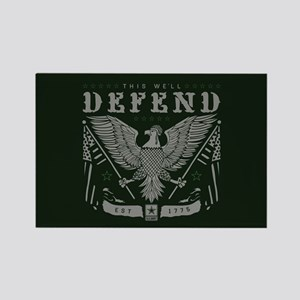 Army This We'll Defend Rectangle Magnet
