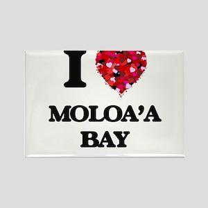 I love Moloa'A Bay Hawaii Magnets