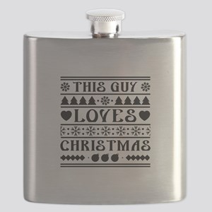 This Guy Loves Christmas Flask
