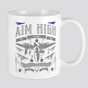 Aim High Fly Fight Win 11 oz Ceramic Mug
