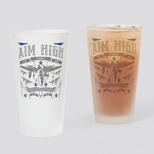 Aim High Fly Fight Win Drinking Glass