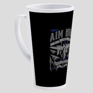 Aim High Fly Fight Win 17 oz Latte Mug