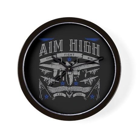 AIM HIGH FLY FIGHT WIN WALL CLOCK