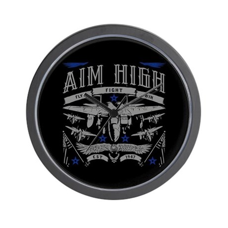 AIM HIGH FLY FIGHT WIN WALL CLOCK