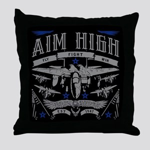 Aim High Fly Fight Win Throw Pillow