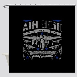 Aim High Fly Fight Win Shower Curtain