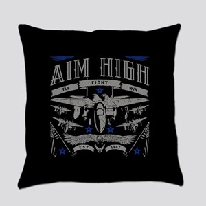 Aim High Fly Fight Win Everyday Pillow