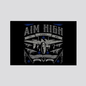 Aim High Fly Fight Win Rectangle Magnet