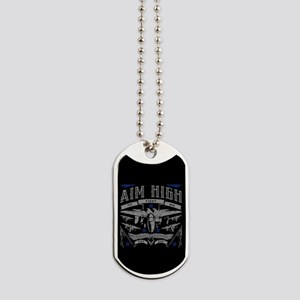 Aim High Fly Fight Win Dog Tags