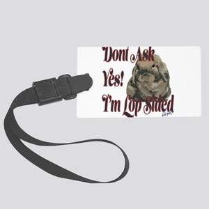 Lop Sided Holland Lop Design Large Luggage Tag