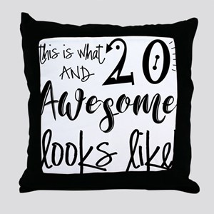 Awesome 20 Years Old Throw Pillow