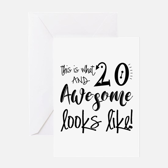 20th birthday 20th birthday greeting cards cafepress awesome 20 years old greeting card bookmarktalkfo Choice Image