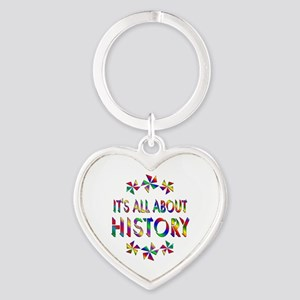 All About History Heart Keychain