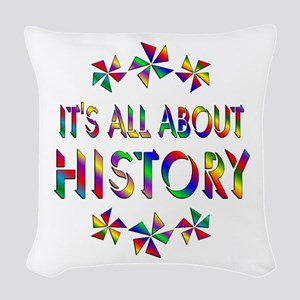 All About History Woven Throw Pillow