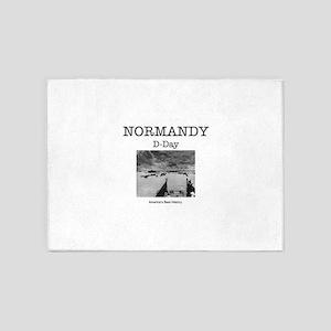 Normandy Americasbesthistory.com 5'x7'Area Rug