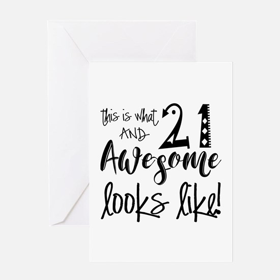Awesome 21 Year Old Greeting Card