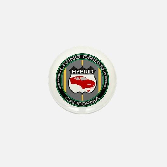 Living Green Hybrid California Mini Button