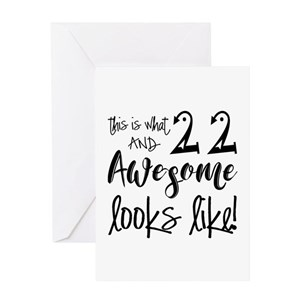 Funny 22nd Birthday Greeting Cards