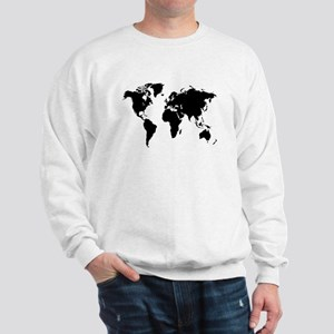 World map sweatshirts hoodies cafepress the world sweatshirt gumiabroncs Images