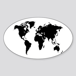 The World Oval Sticker