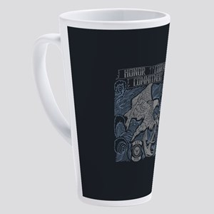 Honor Courage Commitment Eagle 17 oz Latte Mug