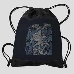 Honor Courage Commitment Eagle Drawstring Bag