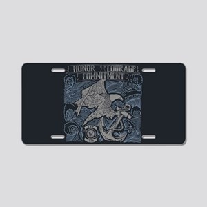 Honor Courage Commitment Ea Aluminum License Plate