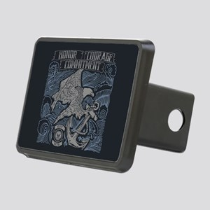 Honor Courage Commitment E Rectangular Hitch Cover