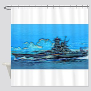 Battleship Shower Curtain
